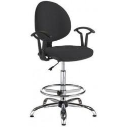 Pracovní židle Smarty s kluzáky, černá