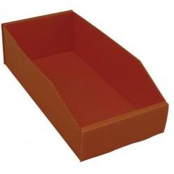 Plastový box PP, 10,5 x 18 x 38 cm, oranžový