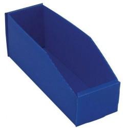 Plastový box PP, 10,5 x 9 x 28 cm, modrý