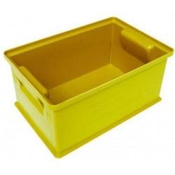 Barevná plastová přepravka PS (8,7 l), žlutá