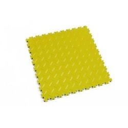 Zátěžová podlaha Fortelock Industry, dezén diamant, dlaždice, žlutá