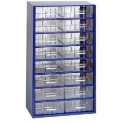 Kovový organizér, 16 zásuvek, modrý
