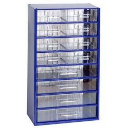 Kovový organizér, 12 zásuvek, modrý