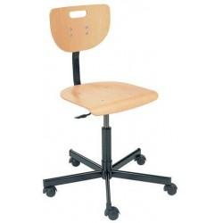 Pracovní židle Werek s tvrdými kolečky