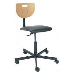 Pracovní židle Werek Plus s tvrdými kolečky