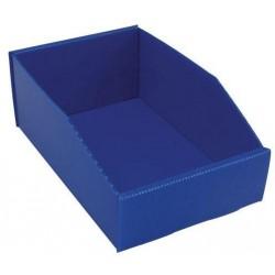 Plastový box PP, 10,5 x 18 x 28 cm, modrý