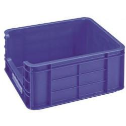 Plastová přepravka PP s vkladovým oknem, 36 l, modrá