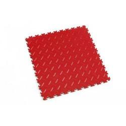 Zátěžová podlaha Fortelock Industry, dezén diamant, dlaždice, červená