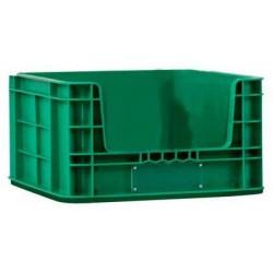 Plastová přepravka PP s vkladovým oknem, 36 l, zelená