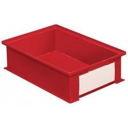 Barevná plastová přepravka PS (16,2 l), červená