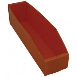 Plastový box PP, 10,5 x 9 x 38 cm, oranžový