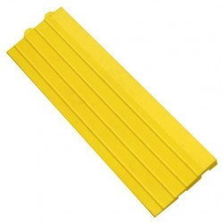 Nájezdová hrana k průmyslovým rohožím, s očky, žlutá