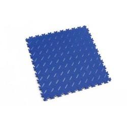 Zátěžová podlaha Fortelock Industry, dezén diamant, dlaždice, modrá