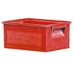 Barevná plastová přepravka PS (8,7 l), červená