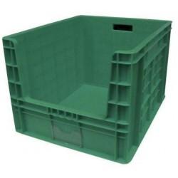 Plastová přepravka PP s vkladovým oknem, 97 l, zelená