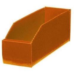 Plastový box PP, 10,5 x 9 x 28 cm, oranžový