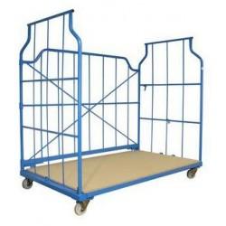 Stohovatelný pojízdný kontejner s mřížovými stěnami, do 800 kg