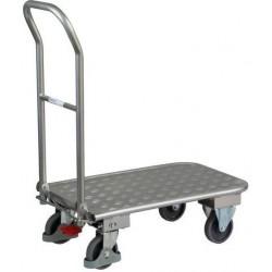 Plošinový vozík se sklopným madlem, do 150 kg, 93,6 x 82 x 47 cm