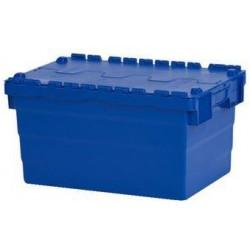 Plastový přepravní box ALC s víkem, modrý, 60 l
