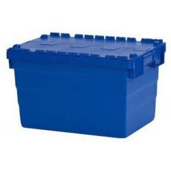 Plastový přepravní box ALC s víkem, modrý, 68 l