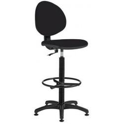 Zvýšená pracovní židle Stella s kluzáky, černá