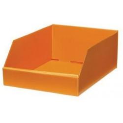 Plastový box PP, 15,5 x 29,5 x 38 cm, oranžové