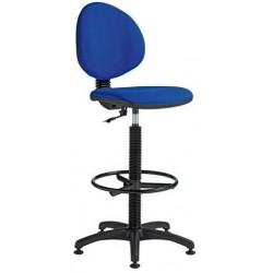 Zvýšená pracovní židle Stella s kluzáky, modrá