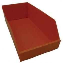 Plastový box PP, 15,5 x 24 x 48 cm, oranžový