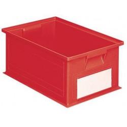 Barevná plastová přepravka PS (28 l), červená