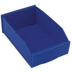 Plastový box PP, 6,5 x 12 x 18 cm, modrý