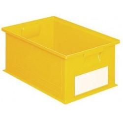 Barevná plastová přepravka PS (28 l), žlutá