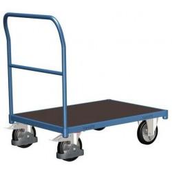 Plošinový vozík s madlem, do 1 000 kg, 100,6 x 172,8 x 80 cm