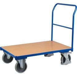 Plošinový vozík s madlem, do 500 kg, 100,6 x 132,5 x 80 cm