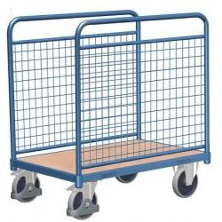 Plošinový vozík se dvěma mřížovými stěnami, do 400 kg