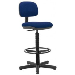 Pracovní židle Senior s kluzáky, modrá