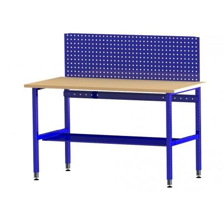 Školní dílenský stůl s perfopanelem a spodní policí DSRDS