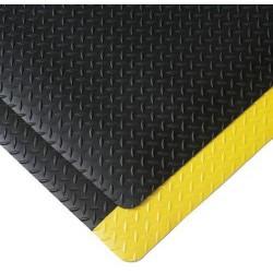 Protiúnavová průmyslová rohož s diamantovým povrchem, šířka 91 cm, metrážová, černá/žlutá