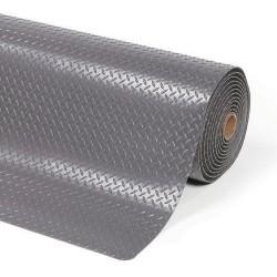 Protiúnavová průmyslová rohož s diamantovým povrchem, šířka 91 cm, metrážová, šedá